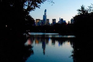 Enjoying the city lights from Central Park.