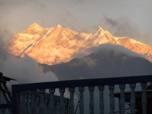 Sun set on Annapurna I -it's for moments like this that I come here.