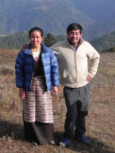 Tendi and Lhamu. Tendi is wearing my dad's sweater in honour of dad who we all wish was here enjoying this visit.