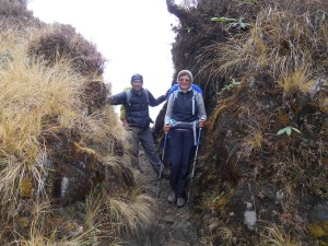 Some of the Mardi Himal trail was steep and rocky. It was all amazingly beautiful even in the fog.