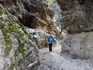 Kathy in Imbros Gorge.