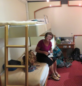 A first class state room. Are you kidding?
