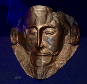 A gold death mask.