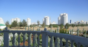 View from our window in Ashgabat
